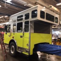Another image of Engine 3 as it is being built by Custom Fire